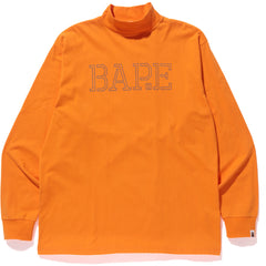 BAPE WIDE MOCK NECK L/S TEE MENS