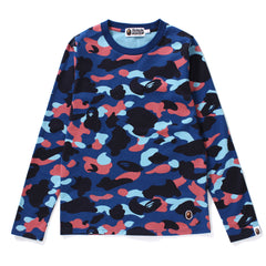 COLOR CAMO LONG SLEEVE TEE LADIES