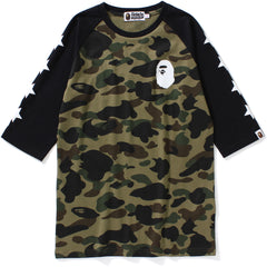 1ST CAMO RAGLAN 3/4 SLEEVE TEE LADIES
