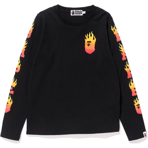 BAPE FLAME LONG SLEEVE TEE LADIES