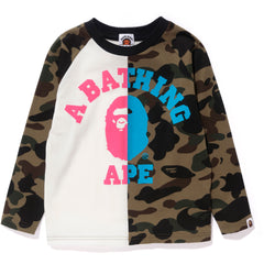 1ST CAMO COLLEGE NEON LONG SLEEVE TEE KIDS