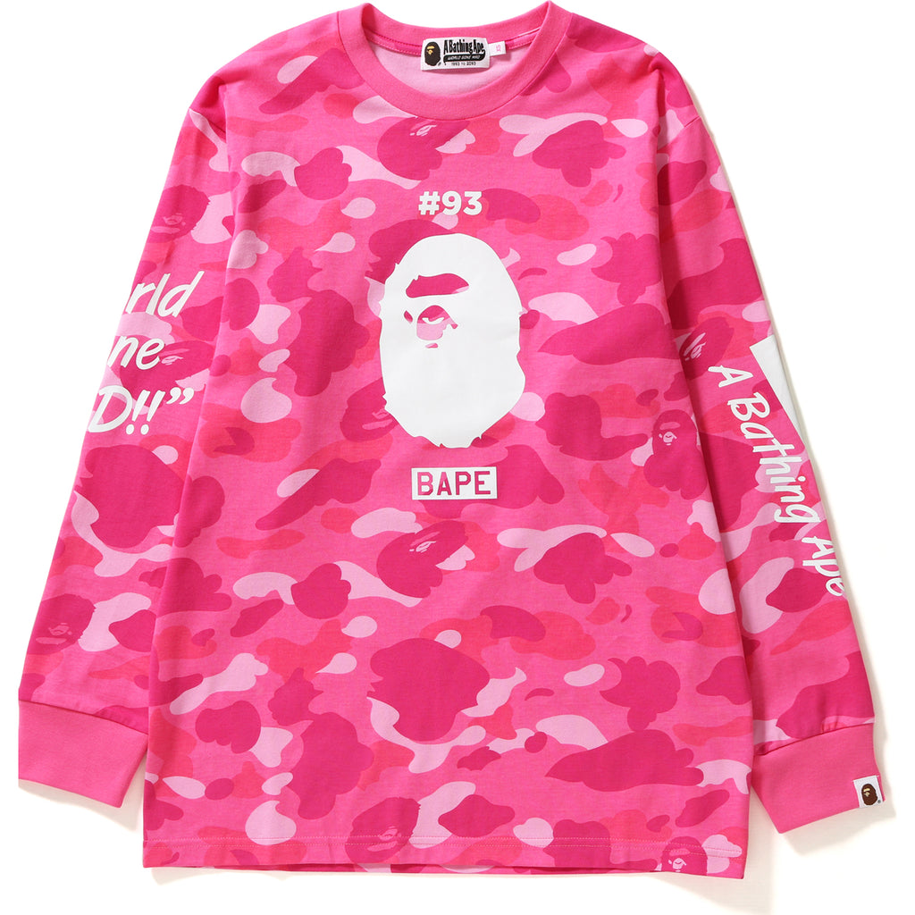 COLOR CAMO OVERSIZED L/S TEE LADIES