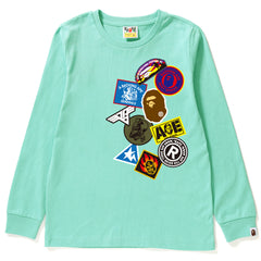 BAPE FAKE EMBLEM L/S TEE LADIES