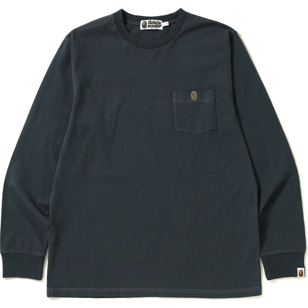 ONE POINT POCKET OVERDYE L/S TEE MENS