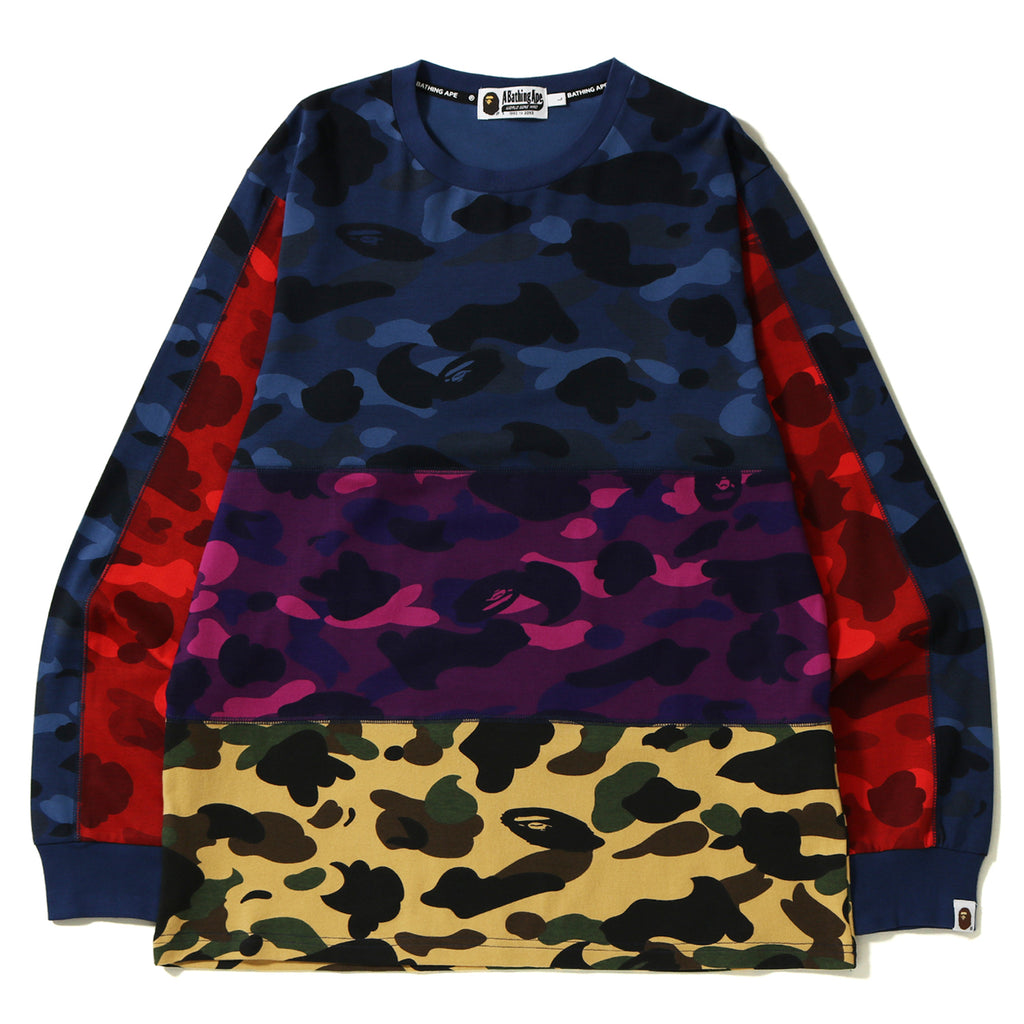 MIX CAMO CRAZY L/S TEE MENS