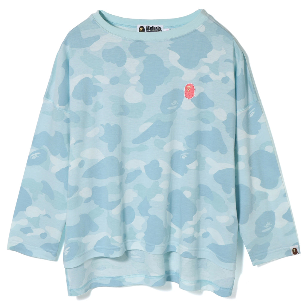 PASTEL COLOR CAMO APE HEAD L/S TEE LADIES