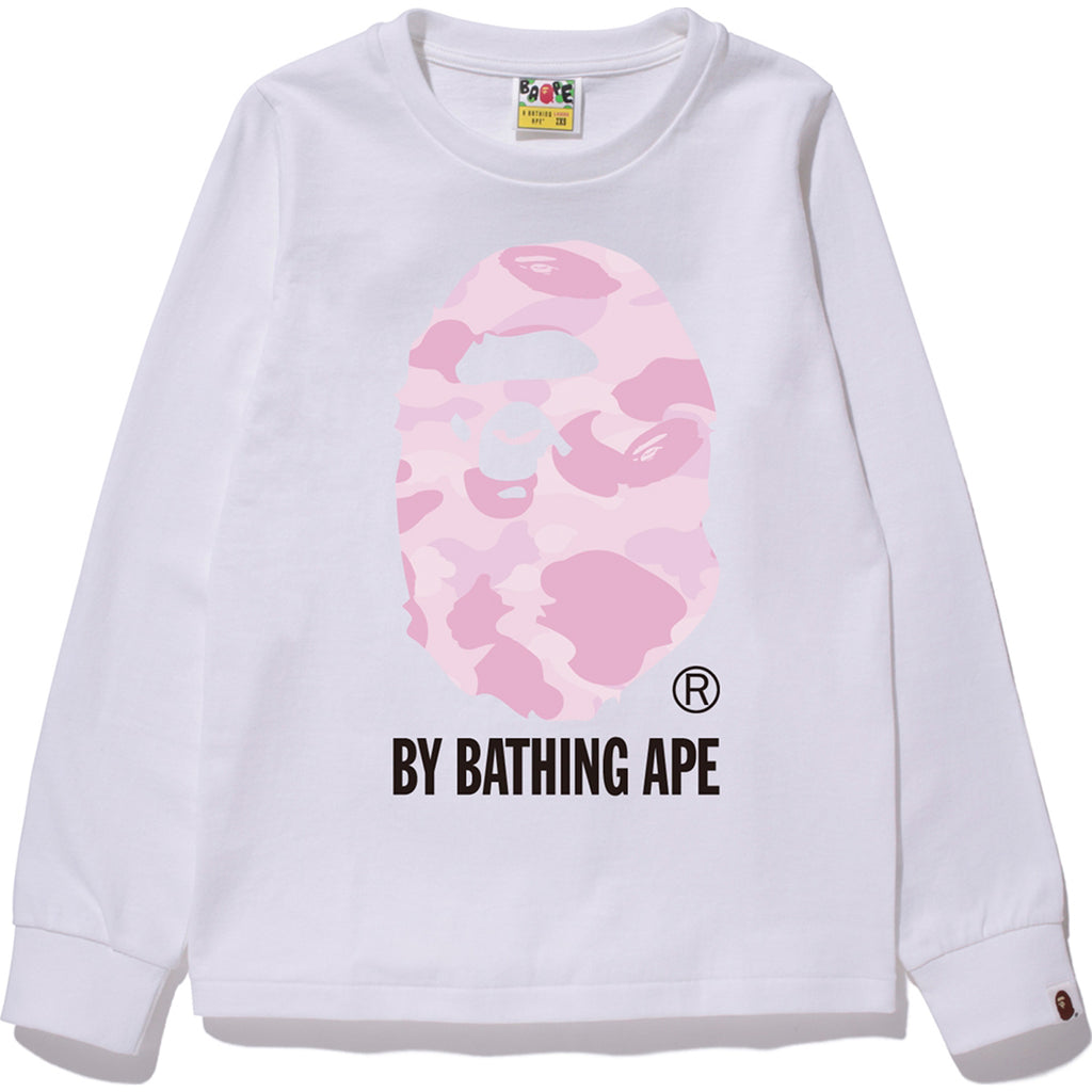 PASTEL COLOR CAMO BY BATHING L/S TEE LADIES