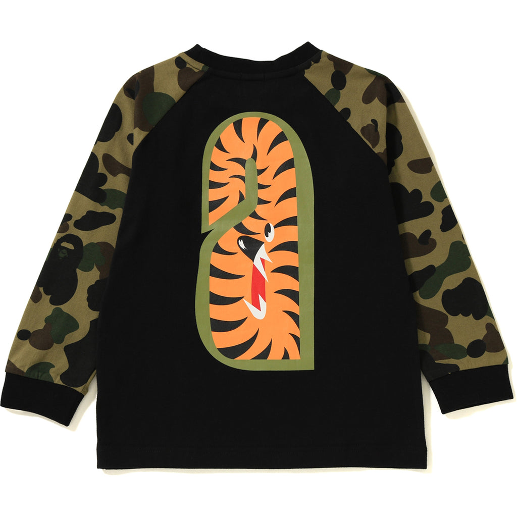 1ST CAMO SHARK LONG SLEEVE TEE KIDS
