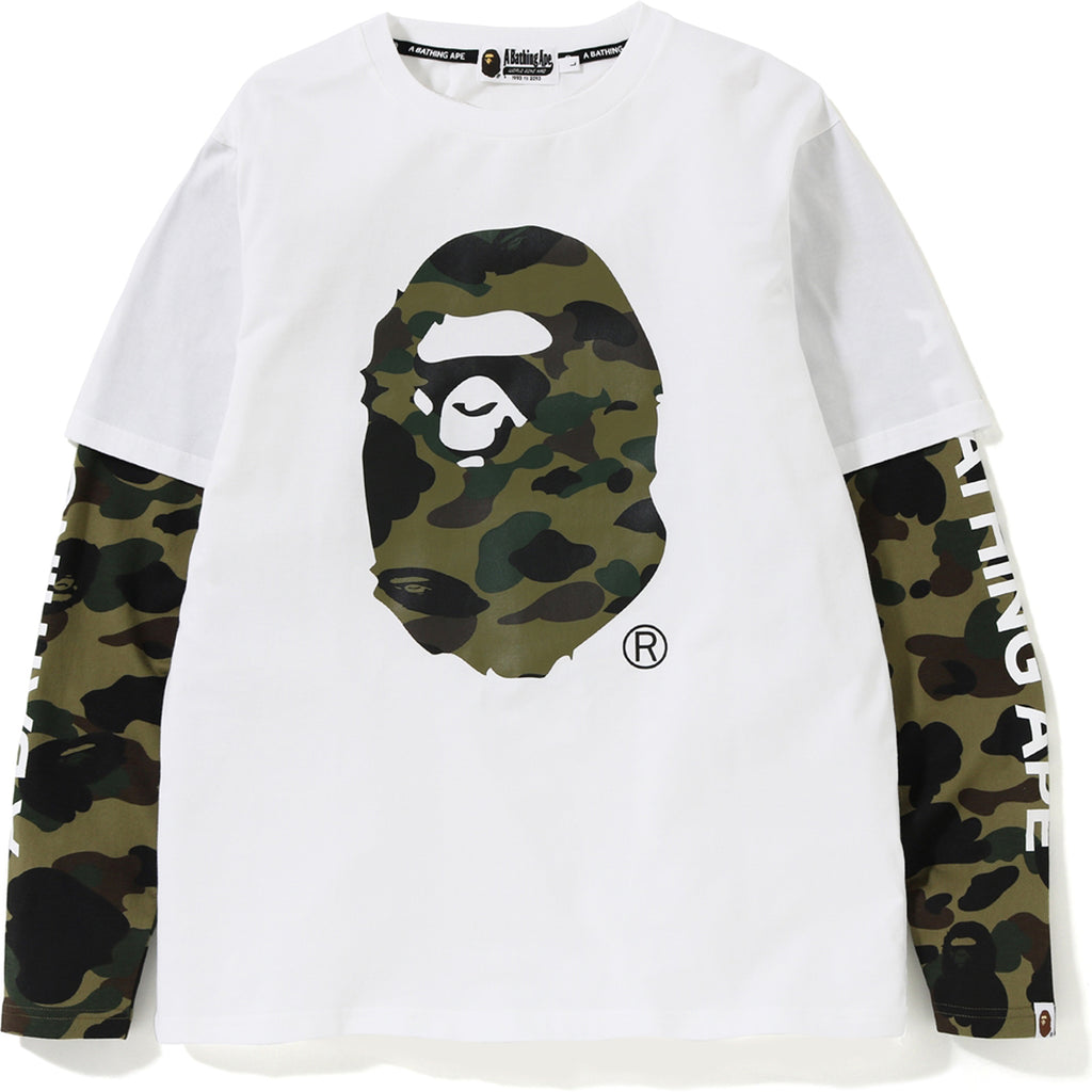 1ST CAMO APE HEAD LAYERED L/S TEE MENS