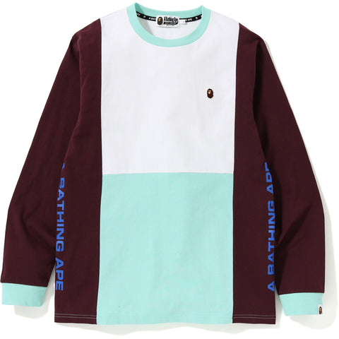 COLOR BLOCK L/S TEE MENS