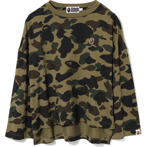 1ST CAMO SHOULDER SLIT L/S TEE LADIES