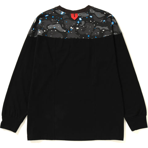 SPACE CAMO PANEL L/S TEE LADIES