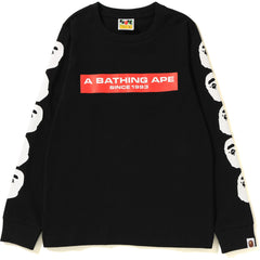 A BATHING APE BOX LOGO L/S TEE LADIES