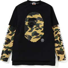 1ST CAMO APE HEAD LAYERED L/S TEE JR KIDS