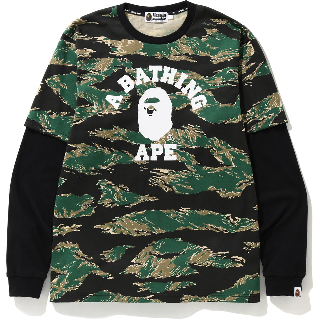 TIGER CAMO COLLEGE LAYERED L/S TEE MENS