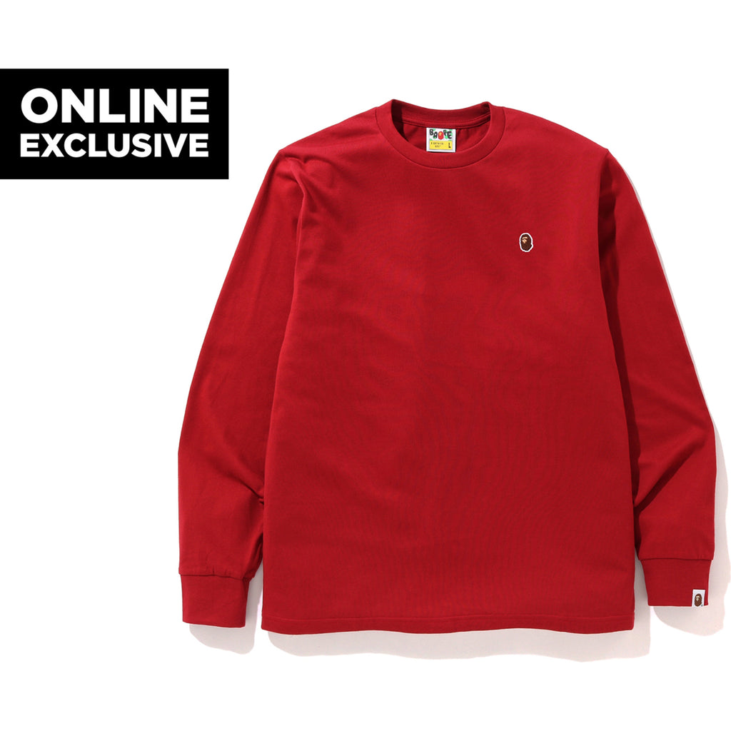 ONE POINT LS TEE M BAPEC MENS