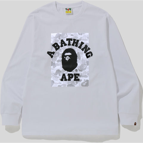 ABC DOT REFLECTIVE ON COLLEGE L/S TEE MENS