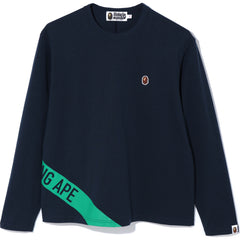 A BATHING APE OVERSIZED L/S TEE LADIES