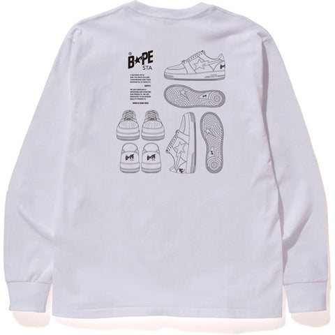 BAPE STA ILLUSTRATION L/S TEE MENS