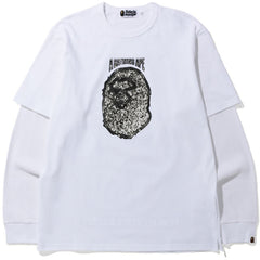 JEWELRY MOTIF WIDE LAYERED L/S TEE MENS