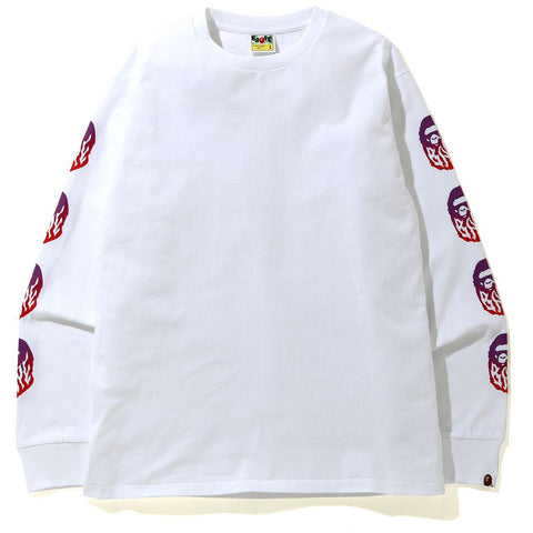 GRADATION BAPE FLAME L/S TEE MENS