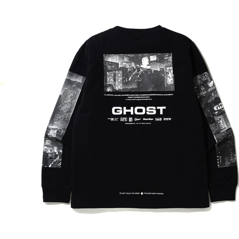 BAPE GHOST L/S TEE MENS