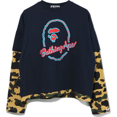 1ST CAMO LAYERED L/S TEE LADIES