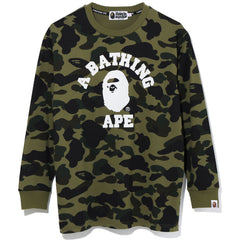 1ST CAMO COLLEGE OVERSIZED L/S TEE LADIES