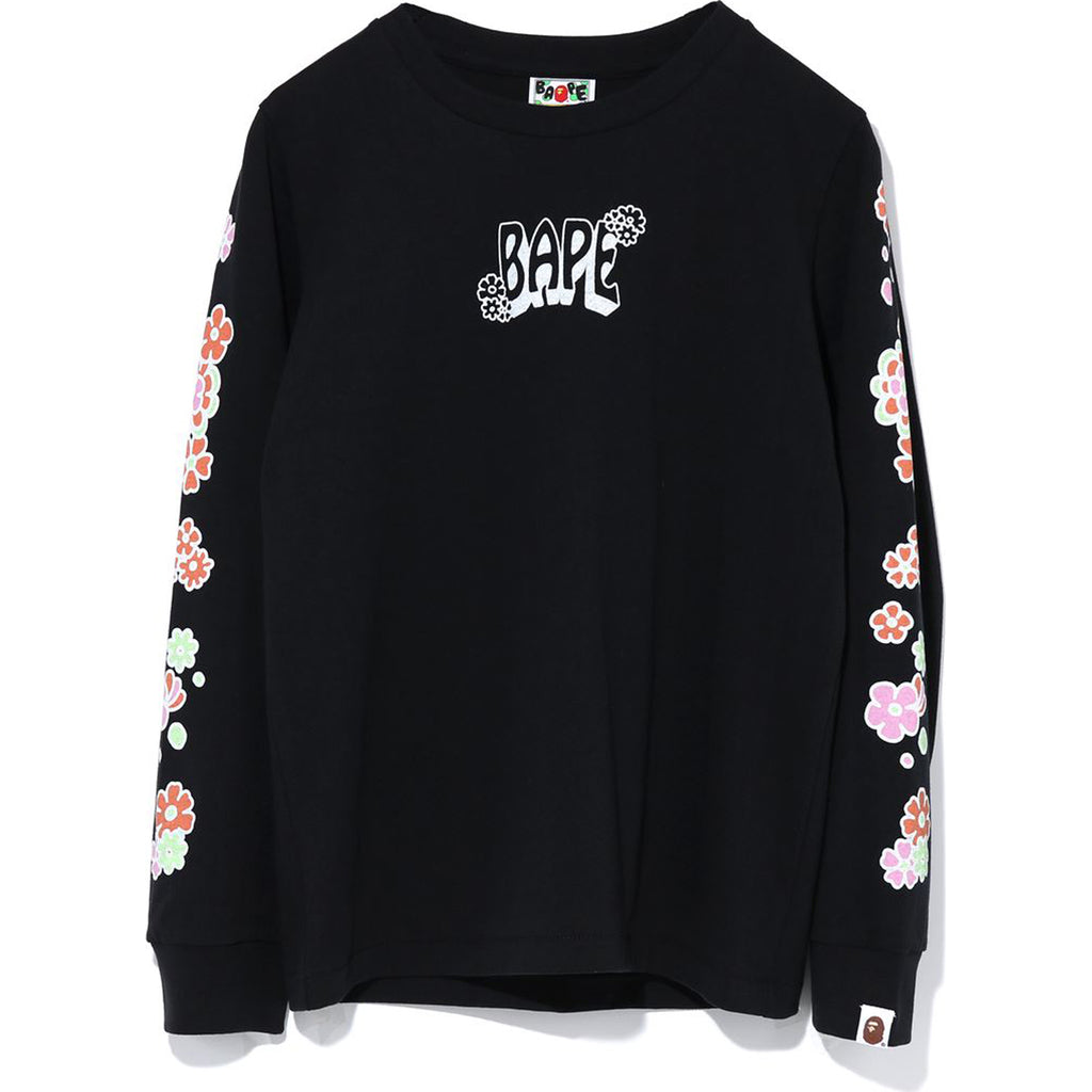 PIGMENT FLOWER APE HEAD L/S TEE LADIES