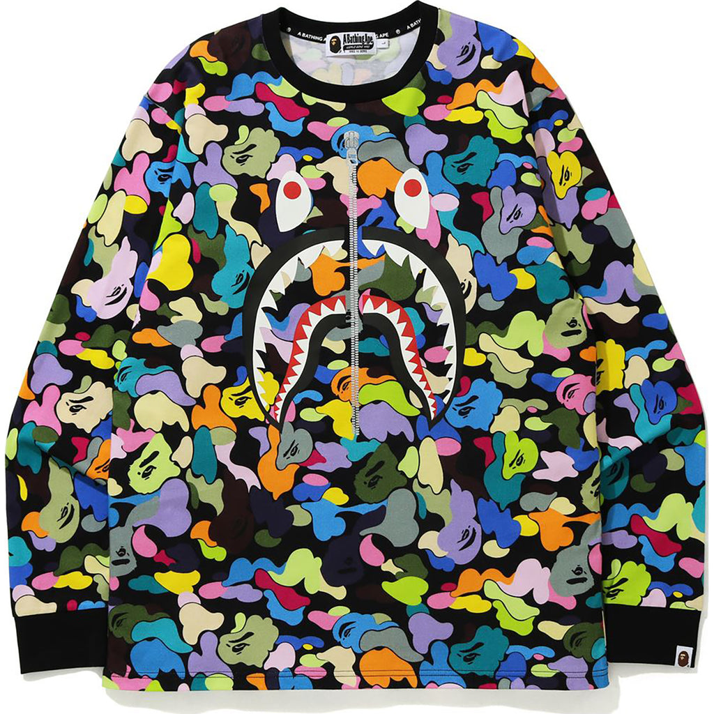 MULTI CAMO SHARK L/S TEE MENS