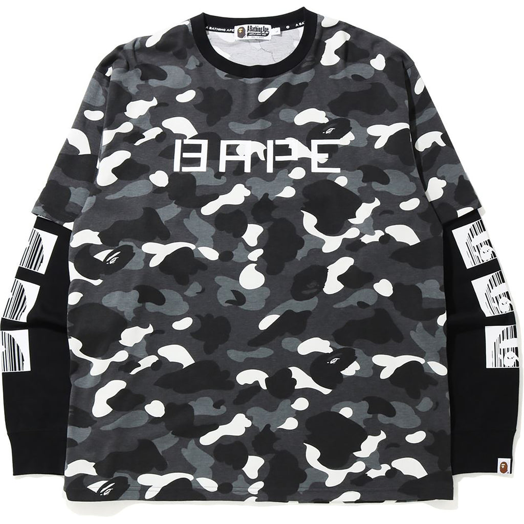 RELAXED CITY CAMO LAYERED L/S TEE MENS