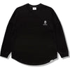 BAPE BLACK LONG SLEEVE TEE MENS