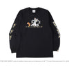 BAPE X TOM AND JERRY FOOTPRINTS MADISON AVENUE L/S TEE MENS