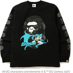 BAPE X DC BATMAN LONG SLEEVE TEE MENS
