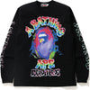 BAPE X READYMADE SPRAY WIDE L/S TEE MENS