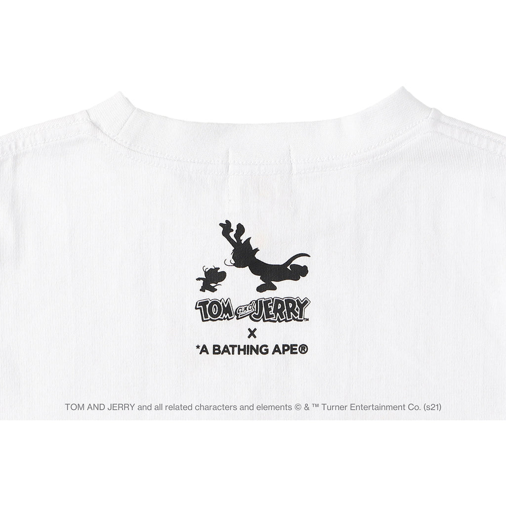 BAPE X TOM AND JERRY FOOTPRINTS L/S TEE KIDS