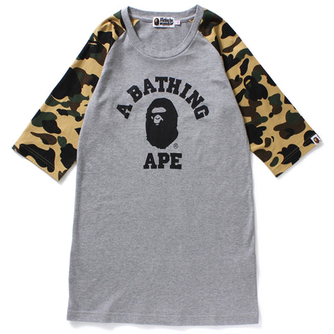 1ST CAMO COLLEGE RAGLAN TEE DRESS