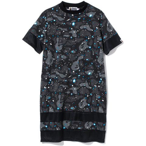 SPACE CAMO MOCK NECK TEE ONEPIECE LADIES