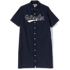 BATHING APE OXFORD S/S SHIRT ONEPIECE LADIES