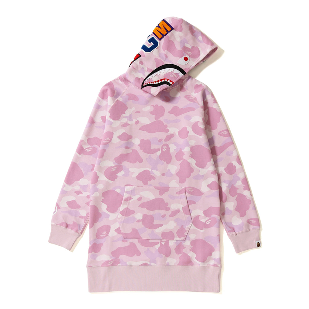 PASTEL COLOR CAMO SHARK HOODIE ONEPIECE LADIES