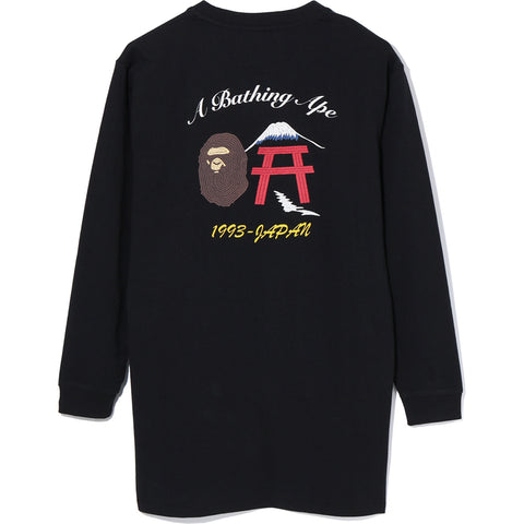 BAPE FAKE EMBROIDERY L/S TEE ONEPIECE LADIES