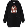 QUILTING APE HEAD WIDE HOODIE ONEPIECE LADIES