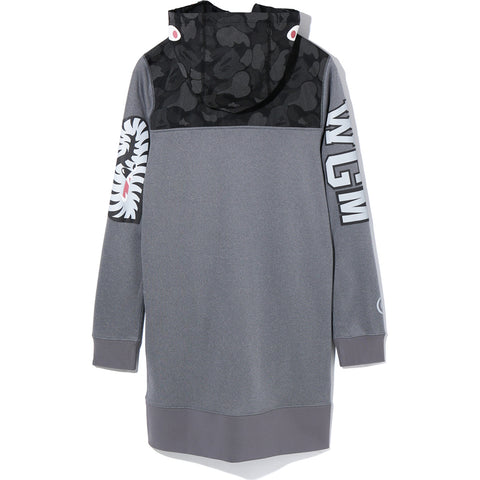 ABC DOT REFLECTIVE CAMO SHARK HOODIE ONE LADIES