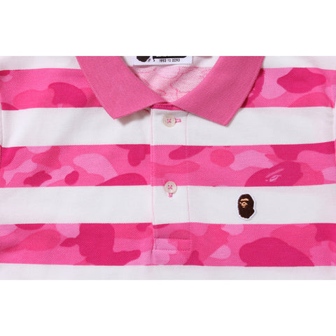 COLOR CAMO HOOP POLO