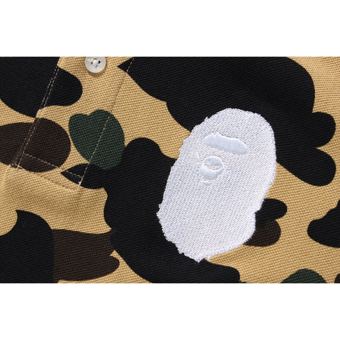1ST CAMO LARGE APE HEAD POLO /L