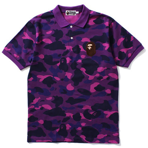 COLOR CAMO LARGE APE HEAD POLO