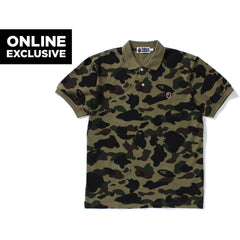 1ST CAMO APE HEAD ONE POINT POLO MENS
