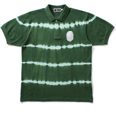 LARGE APE HEAD TIE DYE HOOP POLO MENS