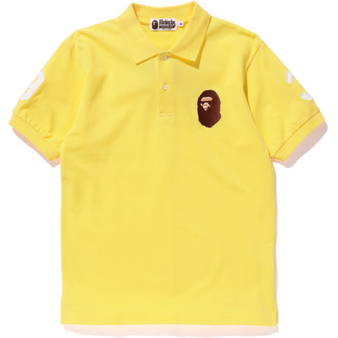 NEON COLOR LARGE APE HEAD POLO MENS