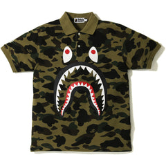 1ST CAMO SHARK POLO MENS